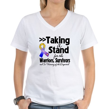 Stand Bladder Cancer Women's V-Neck T-Shirt