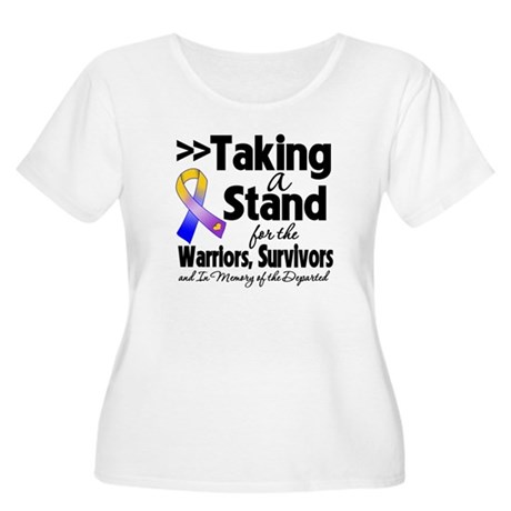 Stand Bladder Cancer Women's Plus Size Scoop Neck