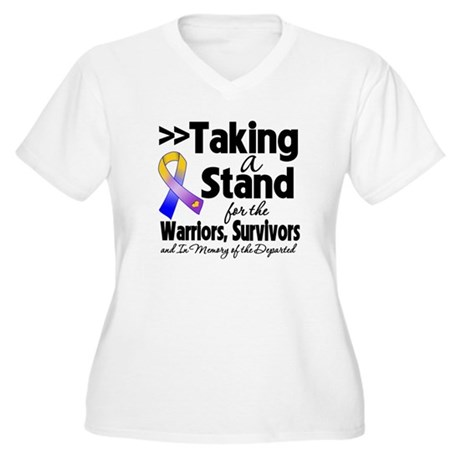 Stand Bladder Cancer Women's Plus Size V-Neck T-Sh