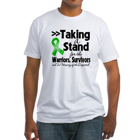 Stand Bile Duct Cancer Fitted T-Shirt