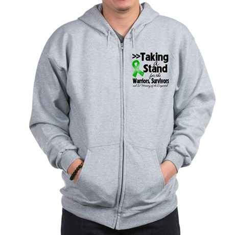 Stand Bile Duct Cancer Zip Hoodie
