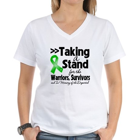 Stand Bile Duct Cancer Women's V-Neck T-Shirt