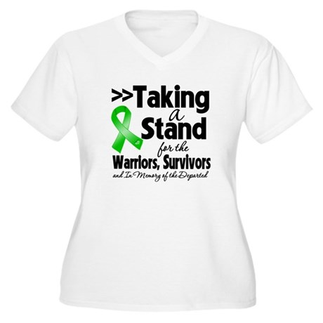 Stand Bile Duct Cancer Women's Plus Size V-Neck T-