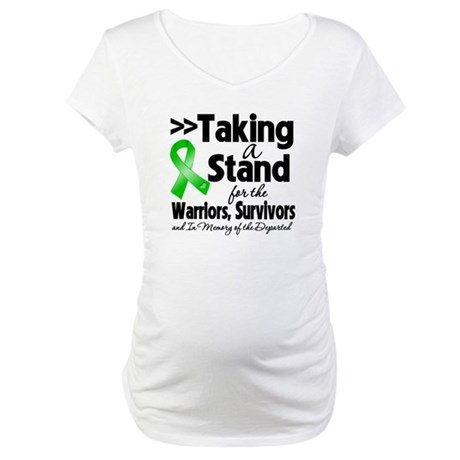 Stand Bile Duct Cancer Maternity T-Shirt