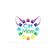 """Cat Mom"" Wall Decal"