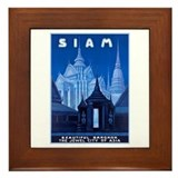 Siam Travel Poster 1 Framed Tile