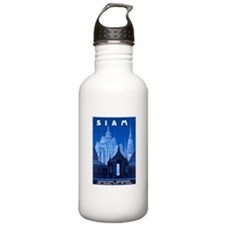 Siam Travel Poster 1 Water Bottle