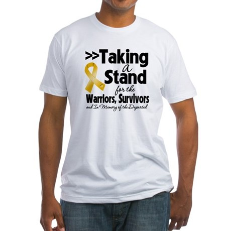 Stand Appendix Cancer Fitted T-Shirt