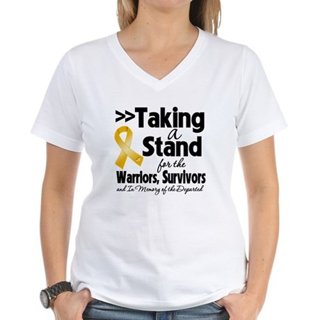 Stand Appendix Cancer Women's V-Neck T-Shirt