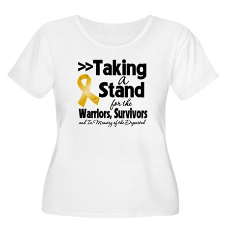 Stand Appendix Cancer Women's Plus Size Scoop Neck