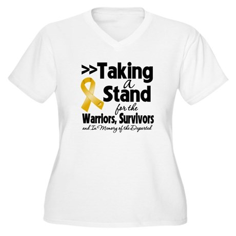 Stand Appendix Cancer Women's Plus Size V-Neck T-S
