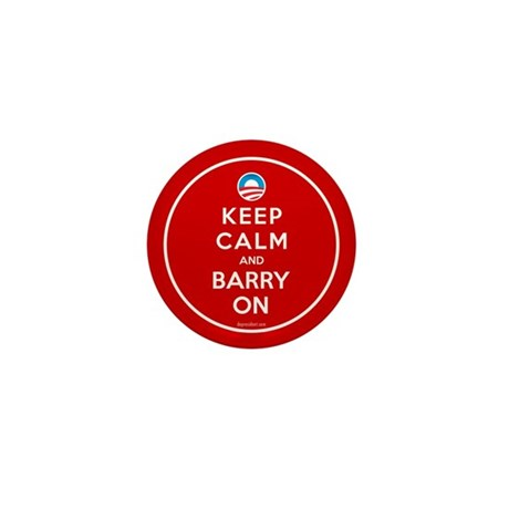 Keep Calm And Barry On Mini Button