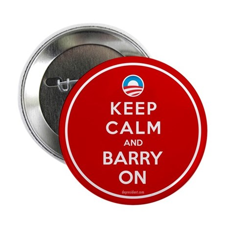 "Keep Calm And Barry On 2.25"" Button (10 pack)"