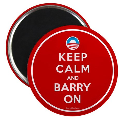 Keep Calm And Barry On Magnet