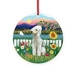 Garden-Shore - Bedlington Terrier Ornament (Round)