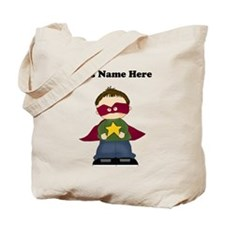 Personalized Super Hero Boy Tote Bag