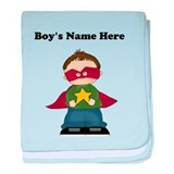 Personalized Super Hero Boy baby blanket