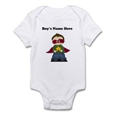 Personalized Super Hero Boy Baby Bodysuit