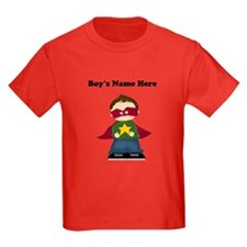 Personalized Super Hero Boy Kids T-Shirt (Dark)