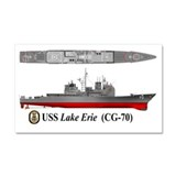 USS Lake Erie CG-70 Car Magnet 20 x 12
