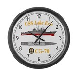 USS Lake Erie CG-70 Large Wall Clock