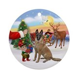 Treat for a Belgian Malinois Ornament (Round)