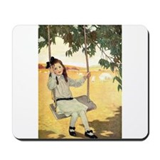 Girl on a Swing Mousepad