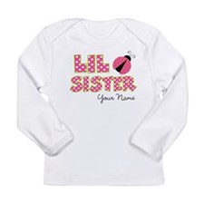 Little Sister Ladybug Pink Long Sleeve Infant T-Sh