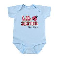 Little Sister Ladybug Pink Onesie