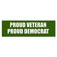 Proud Veteran - Proud Democrat Stickers