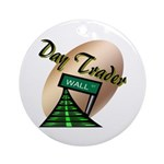 Day Trader Ornament (Round)
