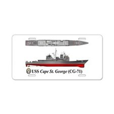 USS Cape St. George CG-71 Aluminum License Plate