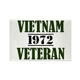VIETNAM VETERAN 72 Rectangle Magnet