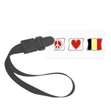 PeaceLoveBelgiumSquares.png Luggage Tag