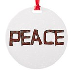 peace_letters02.png Round Ornament