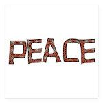 peace_letters02.png Square Car Magnet 3