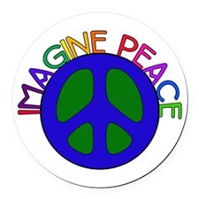 imagine01.png Round Car Magnet