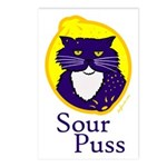 Funny Sour Puss Cat Postcards (Package of 8)
