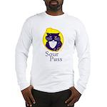 Funny Sour Puss Cat Long Sleeve T-Shirt