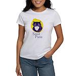 Funny Sour Puss Cat Women's T-Shirt