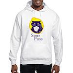 Funny Sour Puss Cat Hooded Sweatshirt