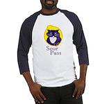 Funny Sour Puss Cat Baseball Jersey