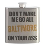 Baltimore Baseball Flask