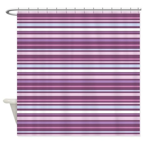 purple horizontal stripe shower curtain