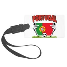 portugal soccer(blk).png Luggage Tag