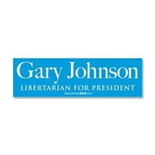 Gary Johnson for President Car Magnet 10 x 3