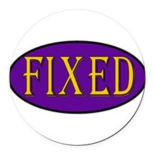 fixed01b.png Round Car Magnet