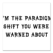 "paradigm01a.png Square Car Magnet 3"" x 3"""