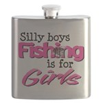 Silly Boys - Fishing Is For Girls Flask