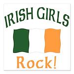 Irish girls rock (blk) T-Shirt.png Square Car Magn